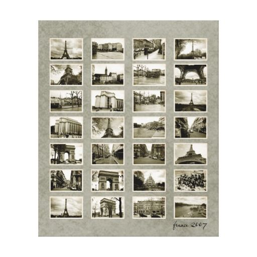 French Photo Collage Canvas Prints