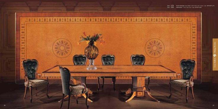 Luxusní ručně vyráběný nábytek do jídelny Ezio Bellotti splňuje ty nejvyšší požadavky na kvalitu. Více na: http://www.saloncardinal.com/ezio-bellotti-f14