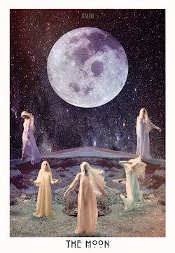 The Moon from the Starchild Tarot