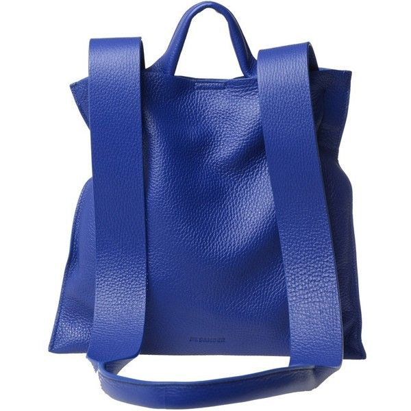 Jil Sander Totes ($575) ❤ liked on Polyvore featuring bags, handbags, tote bags, blue, jil sander purse, jil sander, blue tote, blue purse and blue tote bag