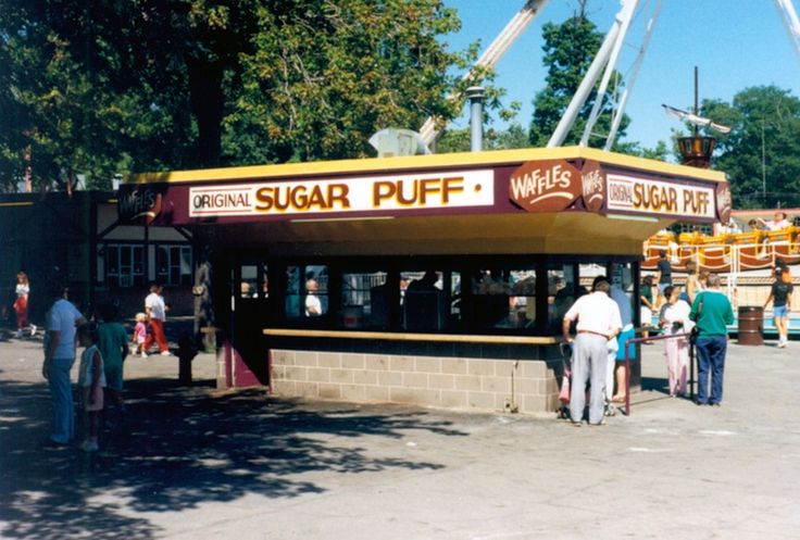 My fav...sugar puff waffles at Crystal Beach