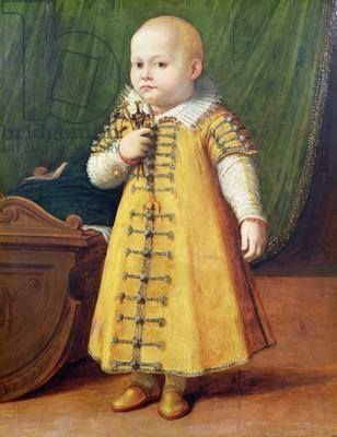 """Portrait of Eleonora Gonzaga, 2 years old"", 1600, Peter Paul Rubens (Innsbruck)."