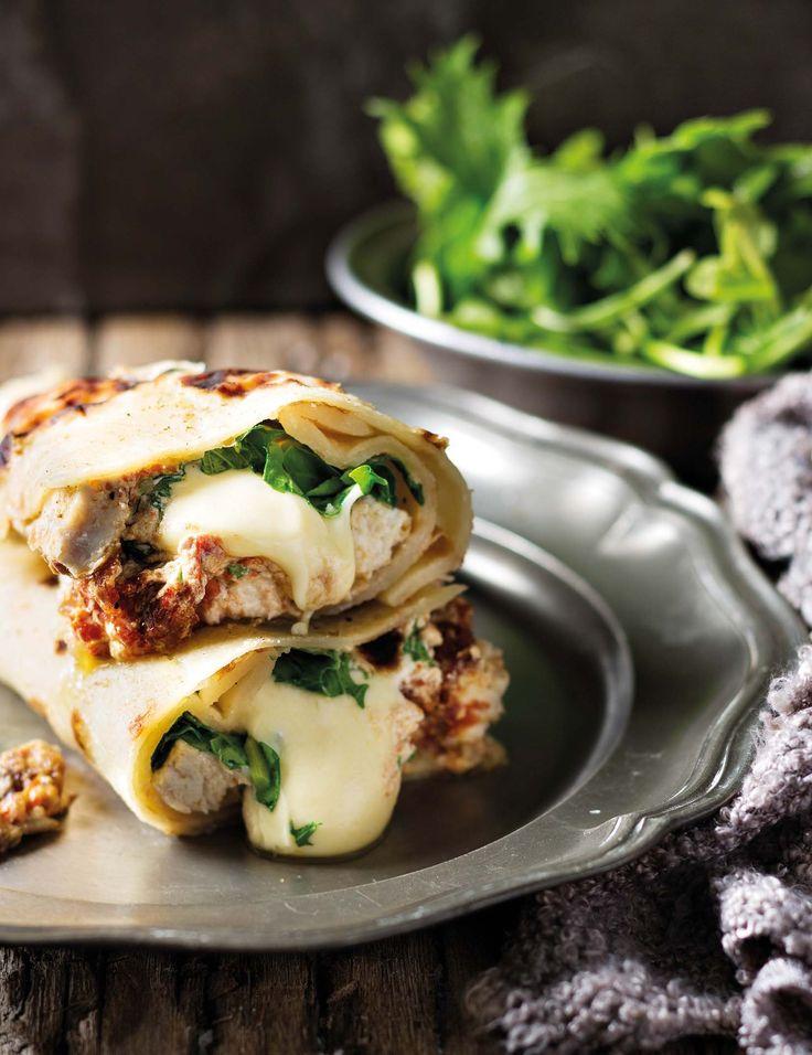 Roti met hoender, mozzarella en suurroom   SARIE