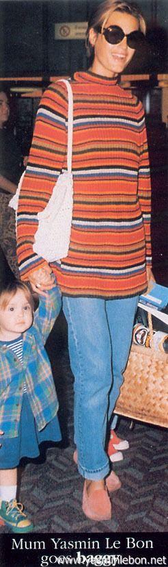 Yasmin & Saffron Le Bon 1993