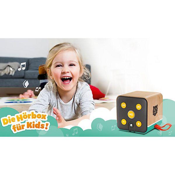 Die kindgerechte Lautsprecherbox spielt über Bluetooth, SD-Kartenslot und AUX-In-Anschluss Musik oder Hörspielgeschichten ab und verfügt über kinderleichte Bedienelemente und LED-Lichtleiste, die passend zur Musik leuchtet. Ein eingebauter Akku 750mAh (bis 8 h Akkulaufzeit) und Micro-USB-Ladekabel (1 m) sind enthalten.<br /> <br /> - Inkl. Contentpaket im Wert von mindestens 20€:<br /> - Bibi & Tina - Das Geheimnis der alten Mühle (Folge 85)<br /&...