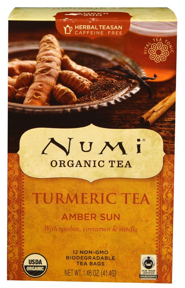 Numi Organic Turmeric Tea Amber Sun..this tea is a bit $$ but so worth it!! Yum Yum