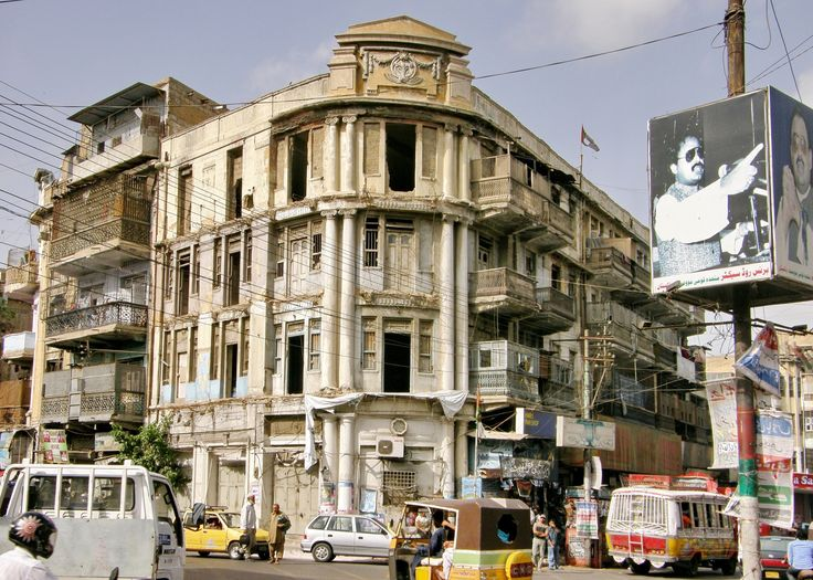 India, Hyderabad, Nizam mansion - on the busy intersection of Muhammad Bin Qasim and Shahrah-e-Liaquat Roads has been abandoned and neglected for decades.