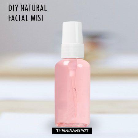 5 DIY  Natural Homemade facial mists for clear glowing skin - COCONUT WATER MIST, GREEN TEA MIST, MINT FACE MIST, CUCUMBER FACE MIST, LAVENDER MIST...