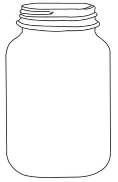 Finally found it! Free Mason jar Template                                                                                                                                                                                 More