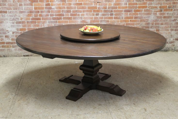 "I want this table top for main eating area in 72"".  This site offers awesome customization in their furniture! large 80"" round dining table with lazy susan"
