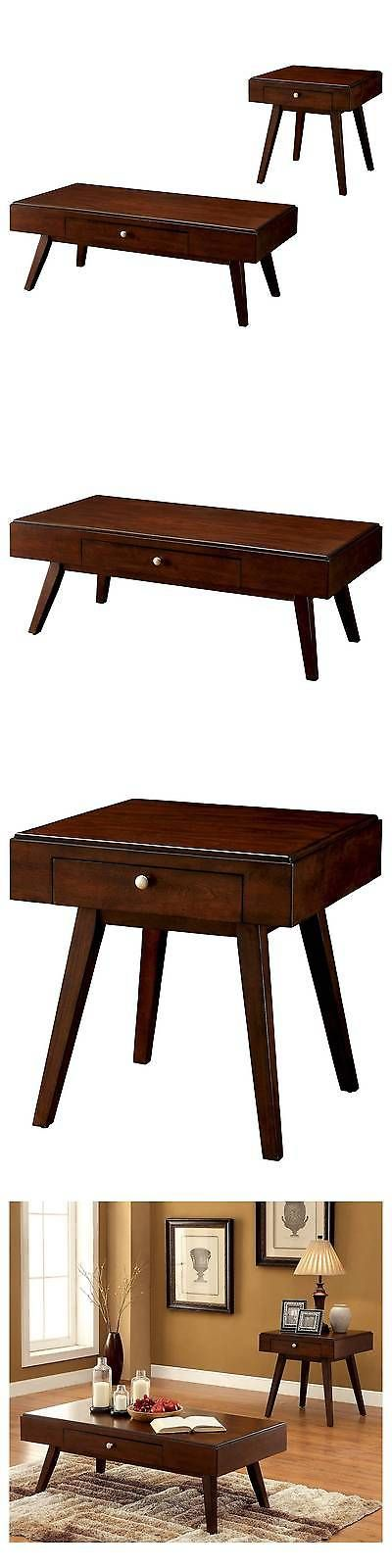 Sets 98478: Occasional Table Set Burgundy Brown - Furniture Of America BUY IT NOW ONLY: $549.99