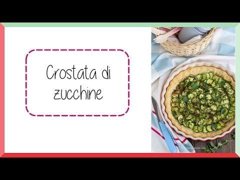 Crostata con zucchine senza uova e senza burro - Chiarapassion - YouTube