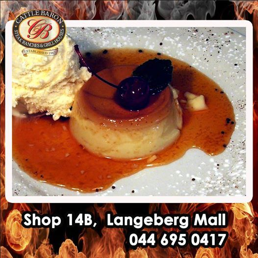 What is your favorite dessert? Cattle Baron Mossel Bay has a wonderful selection of hot and cold puddings to choose from but an all time favorite remains Creme Caramel. Lets hear about your favorite below. #dessertmenu #steakhouse #cuisine