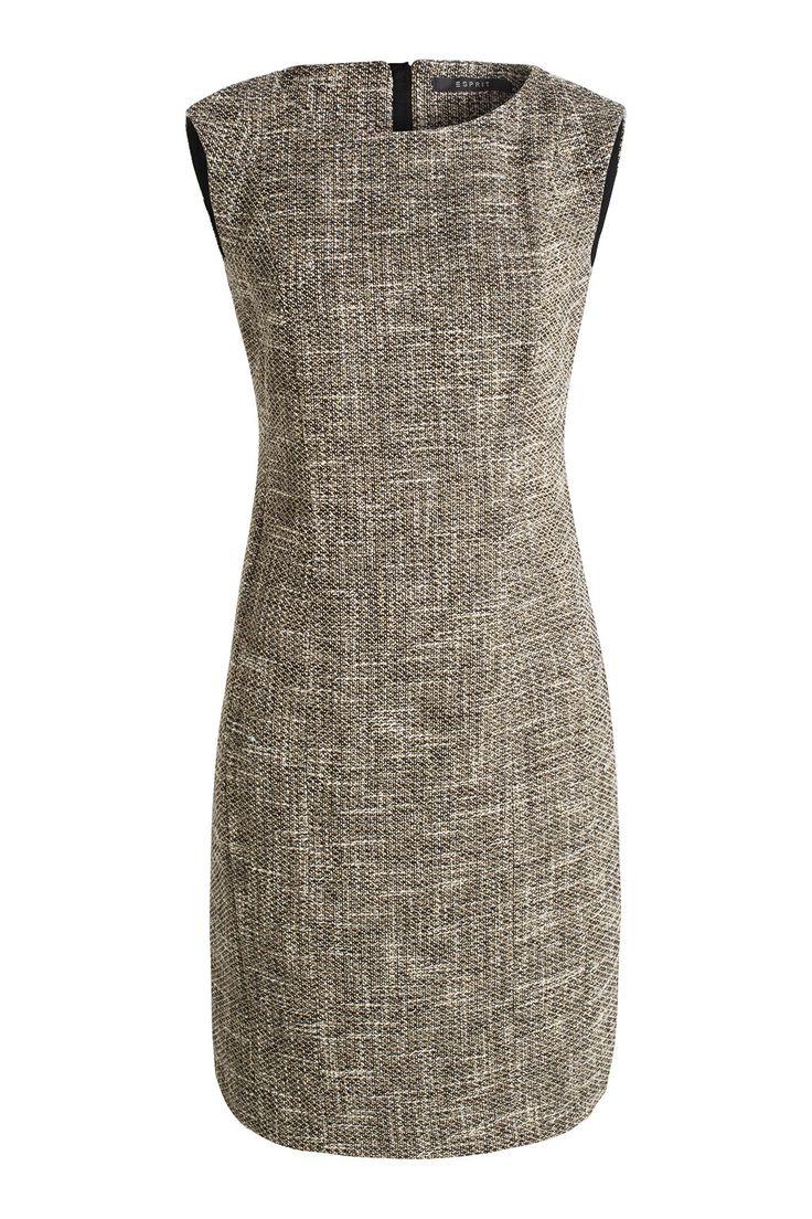 Esprit - Stone tweed jurk met glansaccenten