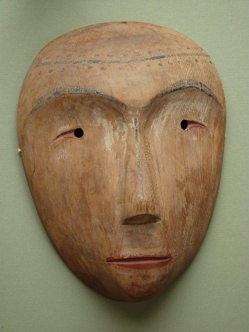 Wooden Inuit Mask.