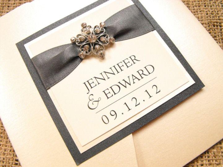 Handmade Wedding Invitations Pocketfold Vienna