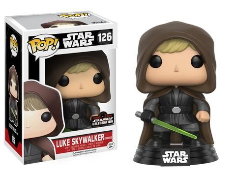Star Wars: Hooded Jedi Luke Skywalker Pop figure by Funko, Star Wars Celebration 2017 exclusive