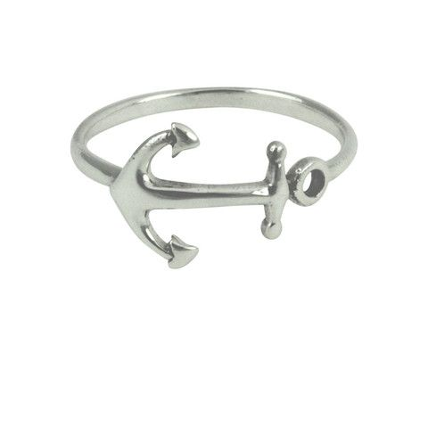 Sterling Silver Anchor Ring #shopapop