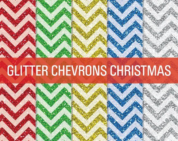 Glitter Chevron Textures Christmas by SonyaDeHart on @creativemarket