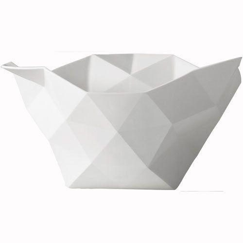Crushed bowl skål stor, hvit