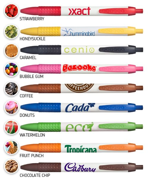 Scented Promotional Pens.  Add smell to one of the sense's you can invoke with branded merchandise!