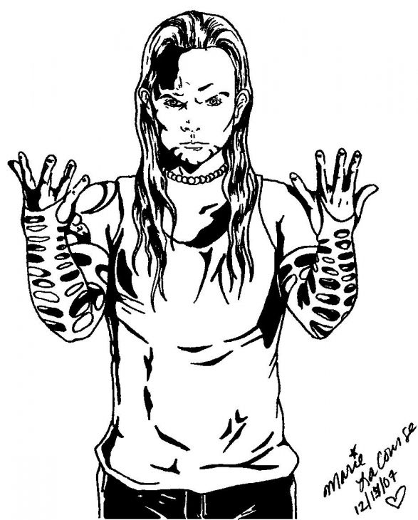 wwe coloring pages jeff hardy - free printable jeff hardy coloring page famous people