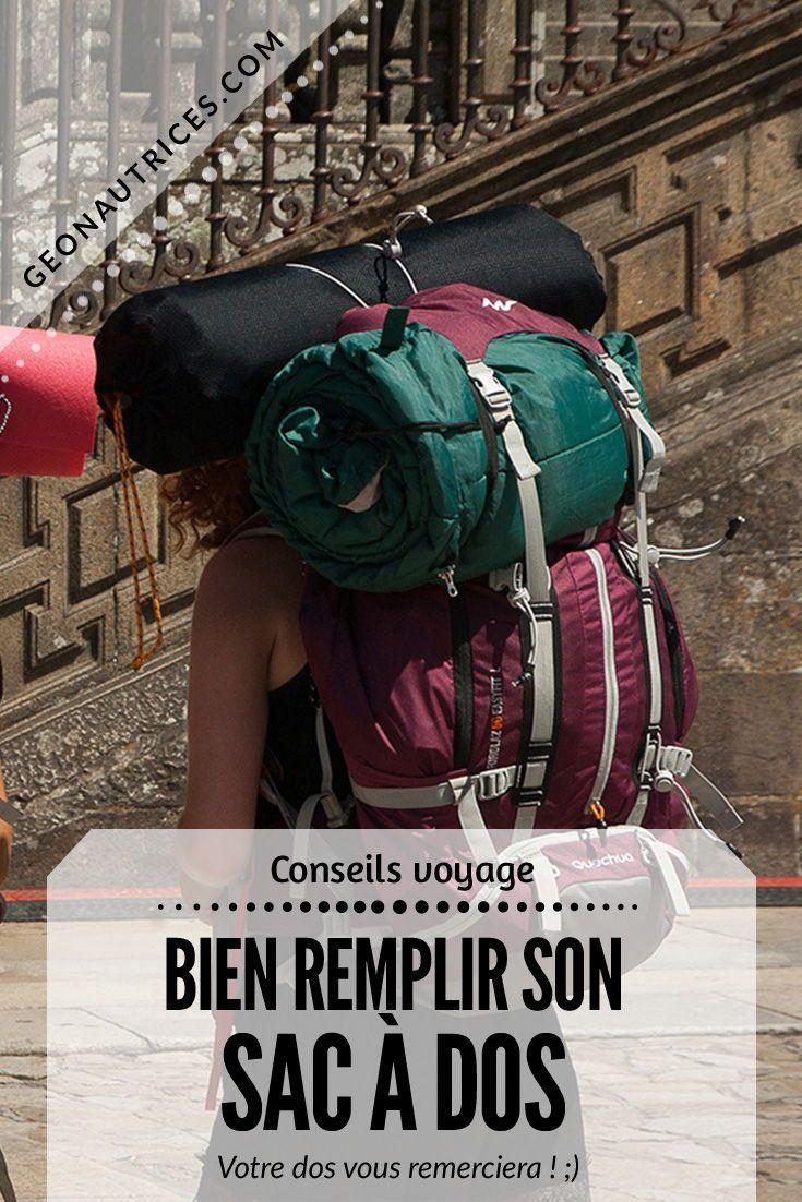 Sac Vos Comment Remplir Travel Son Voyages Bien À DosPréparer 0P8nOkXw