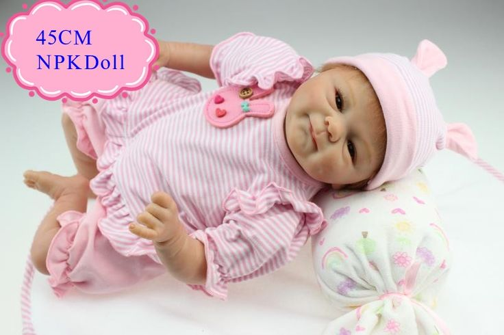 69.30$ Watch now - http://alitmo.worldwells.pw/go.php?t=32732117159 - Wholesale Good Price 45cm18inch Reborn Baby Dolls For Sale With Soft Cotton Clothes Happy Smile Bebes Reborn Menina For Children 69.30$