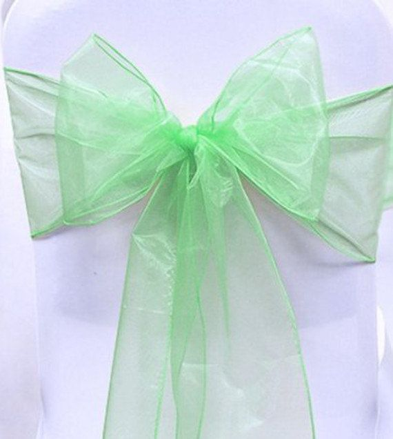 Chair Sashes Mint Green 100 Sashes   Wedding Chair by LemonZestCo