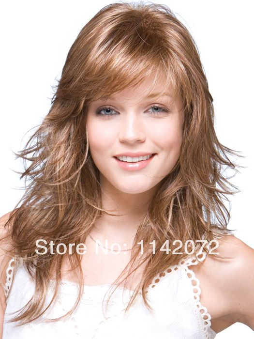 Lady synthetic lace front wig with bangs,front lace weld mono Free Shipping $100.00