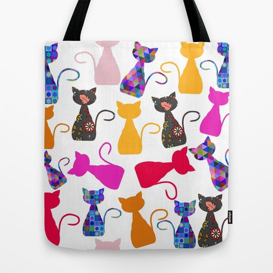 sold this #cats #pattern #tote #bag #animals   #nature #abstract #geometric #geometry