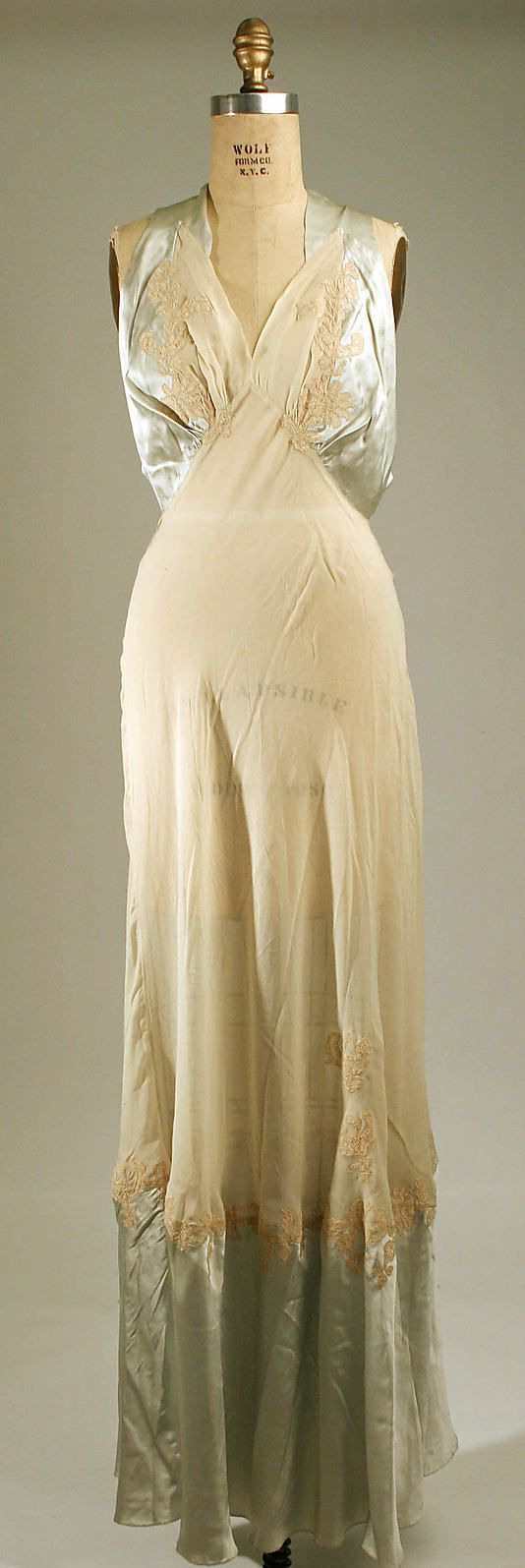 Nightgown  Date: 1940s Culture: American or European