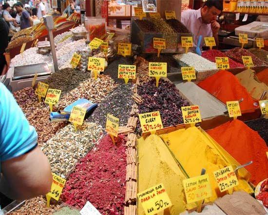 Большой стамбульский базар, Турция.
