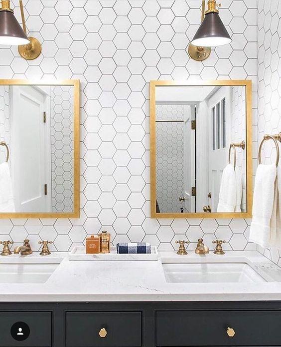 Progress on my Dream Laundry Room  Honeycomb TileModern BathroomBest. Best 25  Hexagon wall tiles ideas on Pinterest   Quirky bathroom