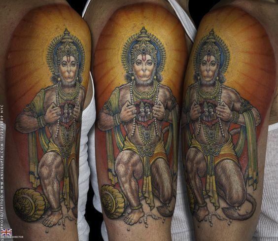 geometric tattoo ram hanuman - Buscar con Google