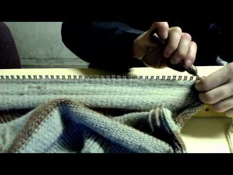 Dude Knits Lebowski Sweater on Homemade Loom Part 1