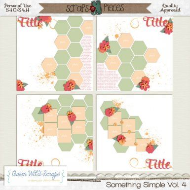 Something Simple Vol. 4 by Queen Wild Scraps - just $3.99 #queenwildscraps #digitalscrapbooking #templates #scrapbooking