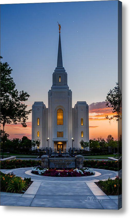 From fine art america · limited time promotion brigham city dipper temple stretched canvas print