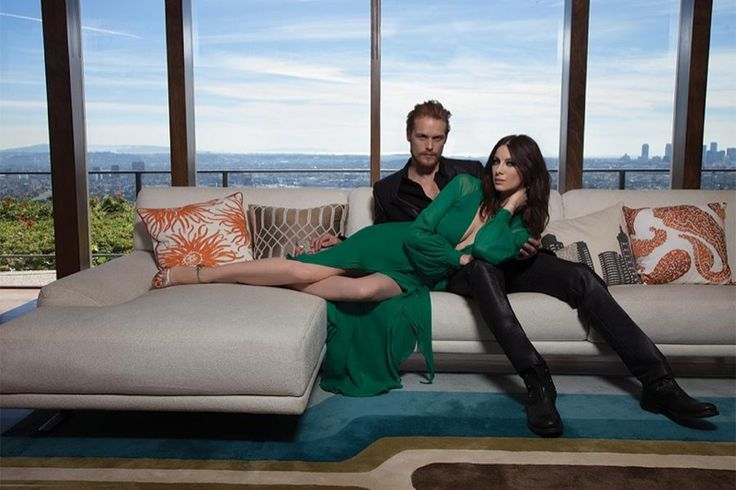 "The stars of 'Outlander', Sam Heughan and Caitriona Balfe, turn up the heat for a steamy cover story of Emmy Magazine. The two cozy up in the images featuring modern style, different from the show's period setting. Talking about their characters' romantic relationship she says, ""It's also how a marriage stays together. They have to …"