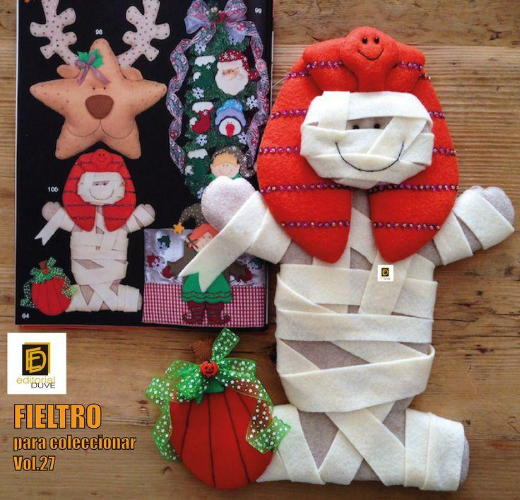 :. Día de Muertos .:  FIELTRO para coleccionar Especial de trabajos navideños  Vol.27  Cómprela en la Tienda de revistas: http://j.mp/R5ZHD7 o en nuestro sitio web: http://www.editorialduve.com/   #fieltro #halloween #manualidades