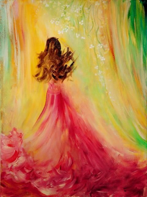 Expecting Acrylic Painting By Teresa Wegrzyn Creative