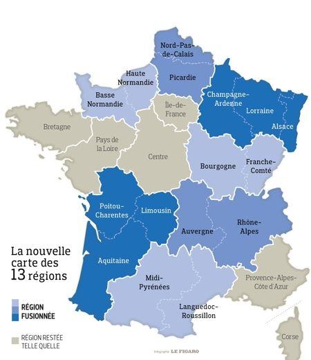 L'Assemblée Nationale a donné son feu vert aux treize régions