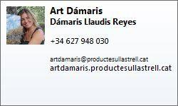 http://www.artdamaris.com | Art Dámaris | Dámaris Llaudis Reyes | +34 627 948 030 | artdamaris@productesullastrell.cat | http://artdamaris.productesullastrell.cat