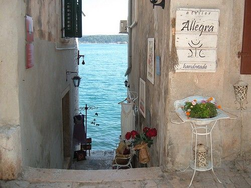 Steps to the Sea, Rovinj,  Croatia  photo via redsungiant