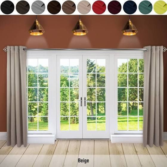 Large French Doors Curtains 1 Panel Grommet Curtains Sliding Patio Doors