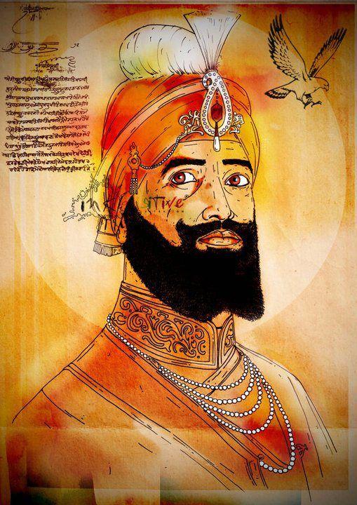 The 10th guru, Shri Guru Gobind Singh Ji. By Inkquisitive illustrations!!