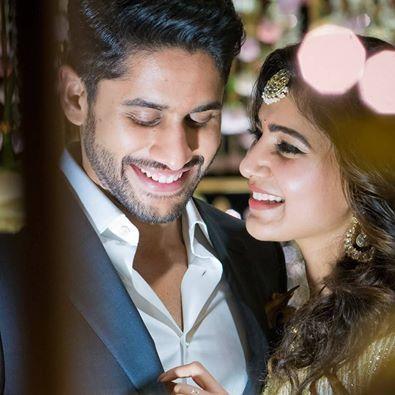 Actress Samantha got engaged with Actor Naga Chaitanya S/O Nagarjuna - Akkineni family yesterday. #engagementstills #StarCouples #Chennaiungalkaiyil.