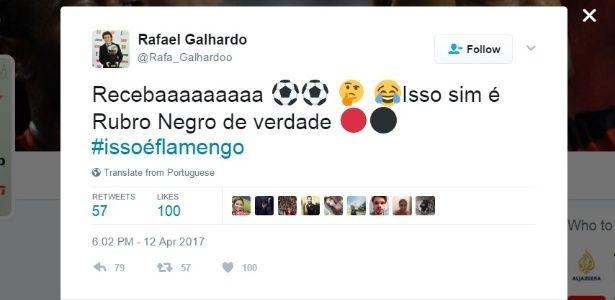 """Ex-lateral do Atlético-PR provoca polêmica: """"isso é Rubro-negro de verdade"""""""