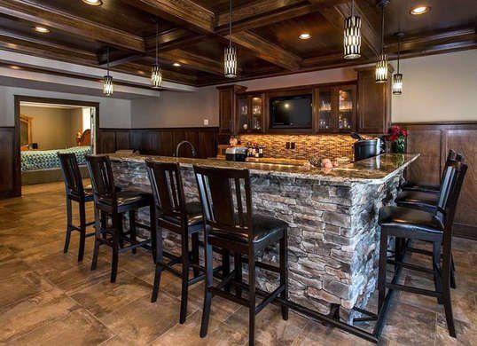 Stone Basement Bar