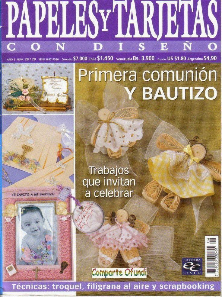Revistas de manualidades Gratis: Como hacer tarjetas para primera comunión y bautizo
